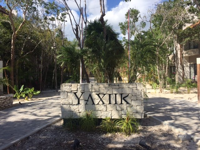 Entrance to Yaxiik Eco Chic Villas. Plenty of parking just outside the 24 hour security gates.