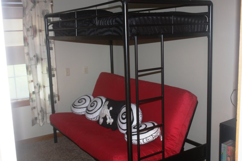 4th bedroom, full bed on the bottom and a twin on top.