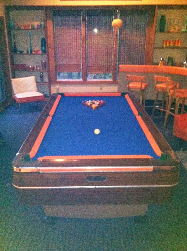 pool table in Family Room