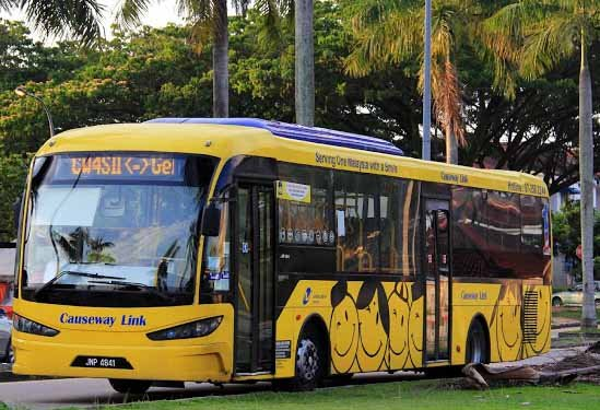 Bus service at Sutera Mall to our neighbour country Singapore