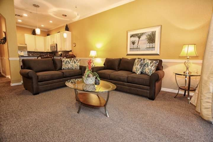 Newly Remodeled Home! Comfortable Living Room with Large Flat Screen TV & Balcony Access