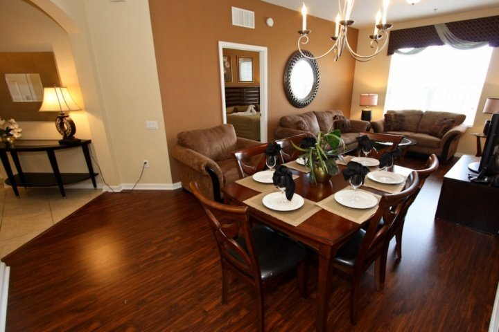 Spacious Open Living Area and Dining Area