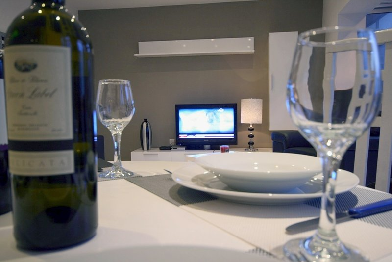 view mesa de jantar para TV