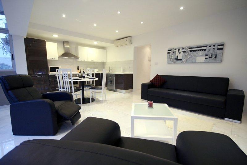 Cozinha, sala, sala de jantar