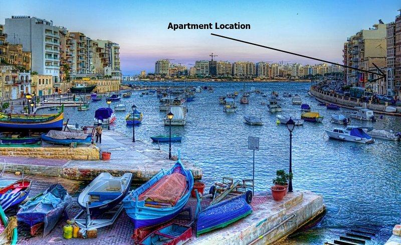 Apartamento localização na Baía de Spinola