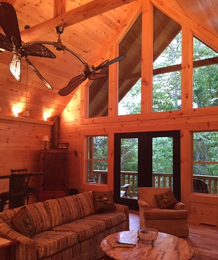 Apartment Finder Asheville: Brand New Log Cabin...Close To Asheville! Has Central