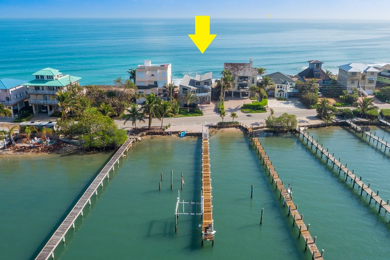 Ocean to river fabulousness, in 7BR/6BA Family retreat beach house.  +Private Dock, pool, & more!