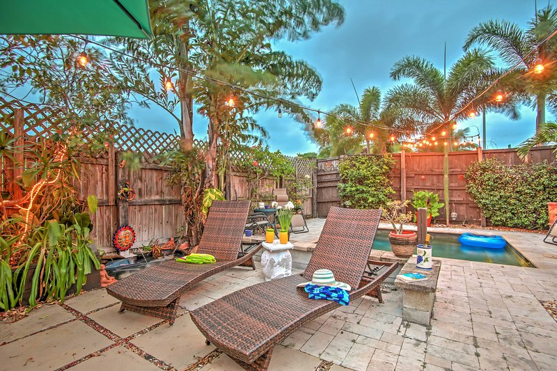 Your very own private oasis awaits at this Lake Worth vacation rental House!