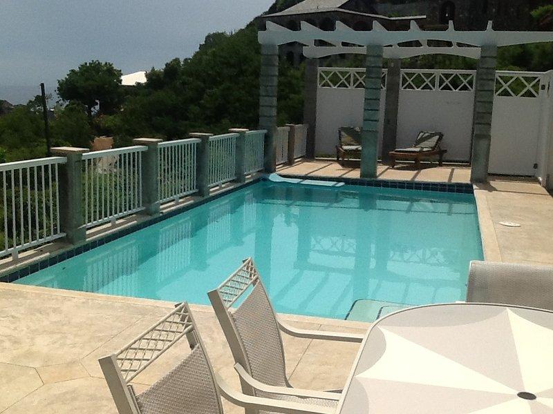 brisas tropicales mientras se relaja en la piscina