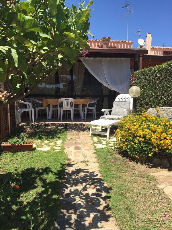 jardín de la veranda de entrada