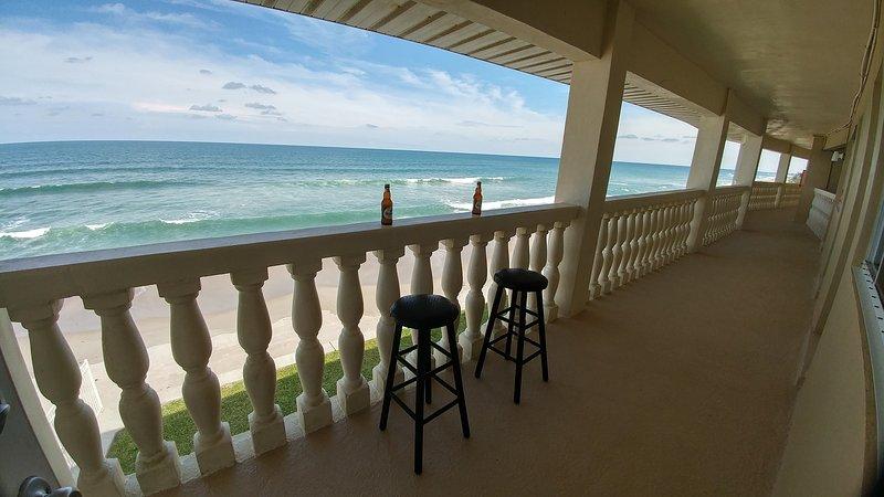 Spacious fresh air veranda.