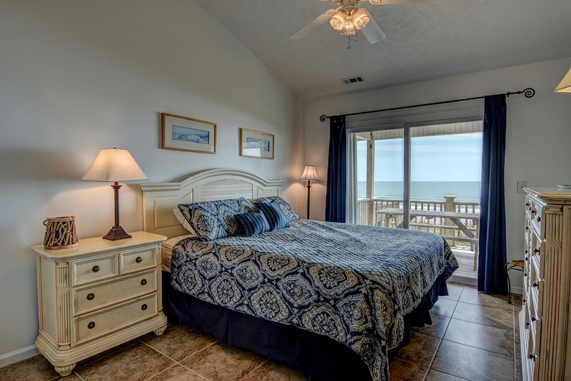 Upstairs Master Suite with a King Bed. Excellent Ocean views