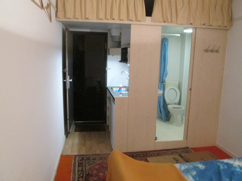 kitchen, entrance and bathroom