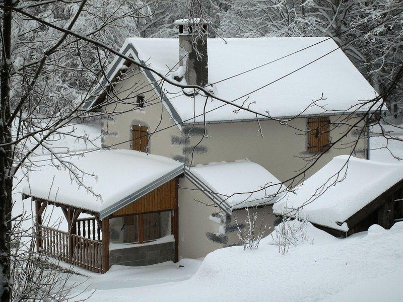 Chalet   sous  la  neige ...