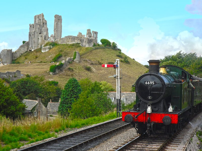 Swanage Steam Railway and Corfe Castle are great ideas for days out.