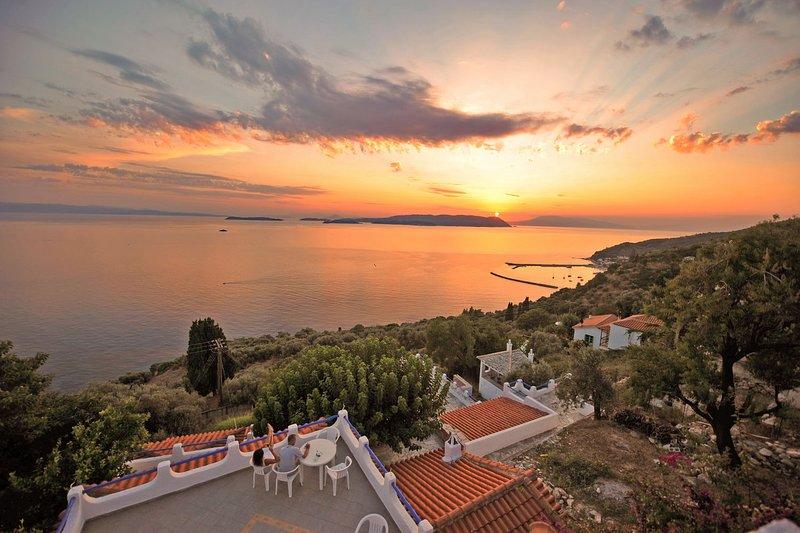Um bom tramontpo a partir dos terraços do complexo ESPÓRADES SECRET privados.