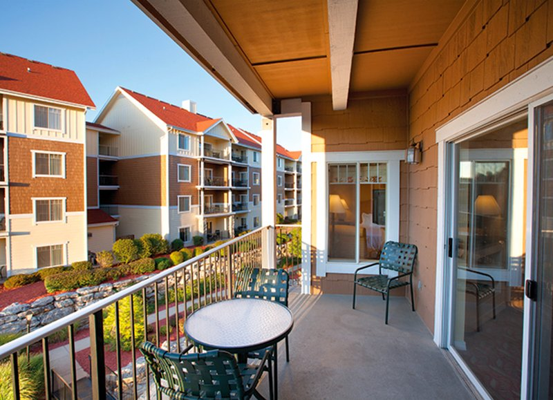 The balcony on our 1,555 square-foot, 3-bedroom, 2-bathroom condo is a guest favourite!