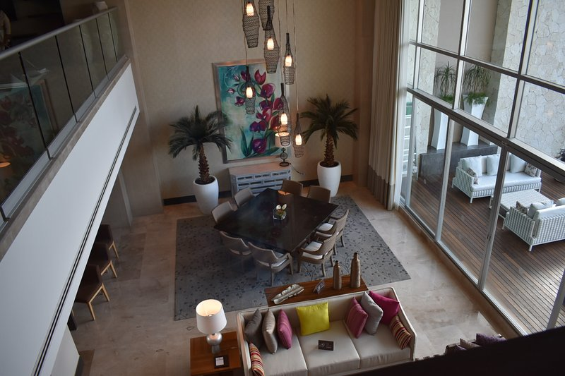 Living/dining area (view from loft area)