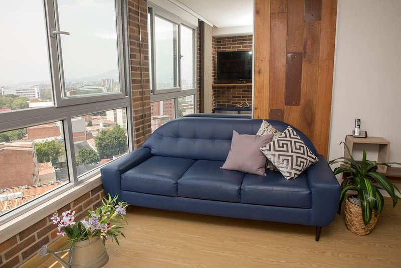 Relax in the living room and enjoy the great views