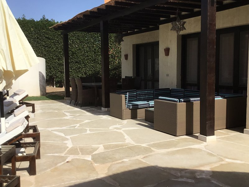 Additional outside lounge/seating area next to pool and in extremely private gardens