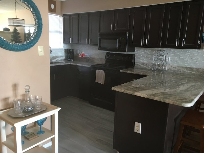 Spacious  kitchen.  New Granite, Tile and back splash