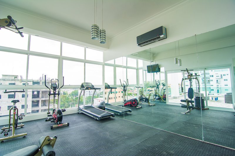 The Shared Gym inside the Building