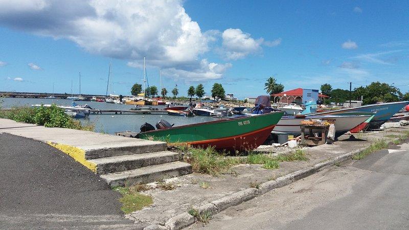 Fishing port and marina
