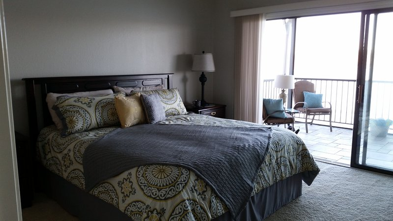Master BR 2.  King bed with all new bedding.