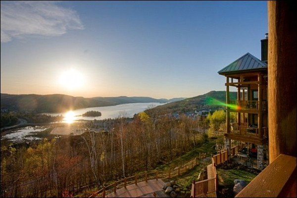 Vackra utsikt över Lac Tremblant