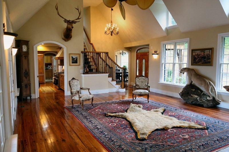 Grandes quartos maravilhosamente decorados