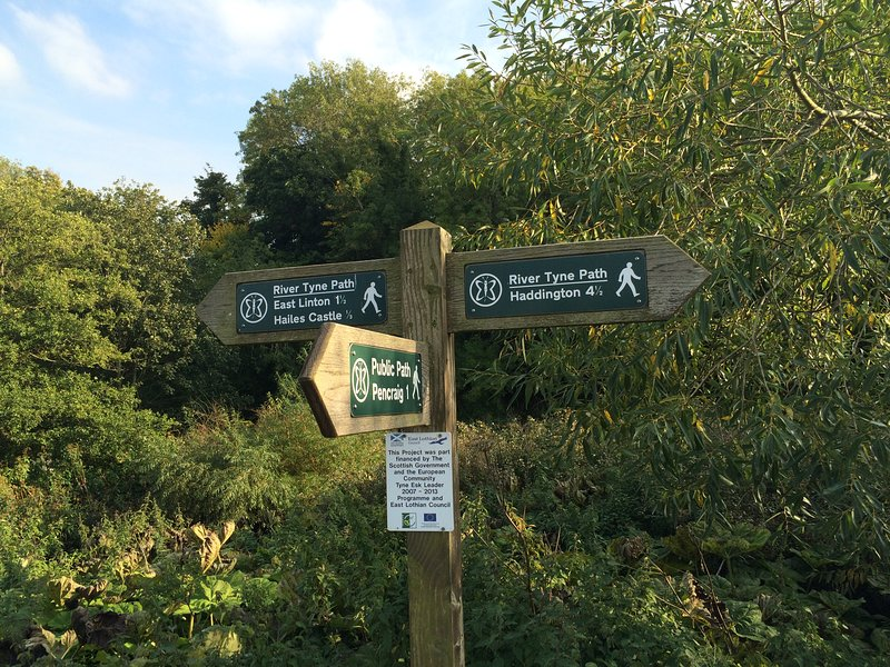 Rivière Tyne Chemin vers East Linton ou Haddington