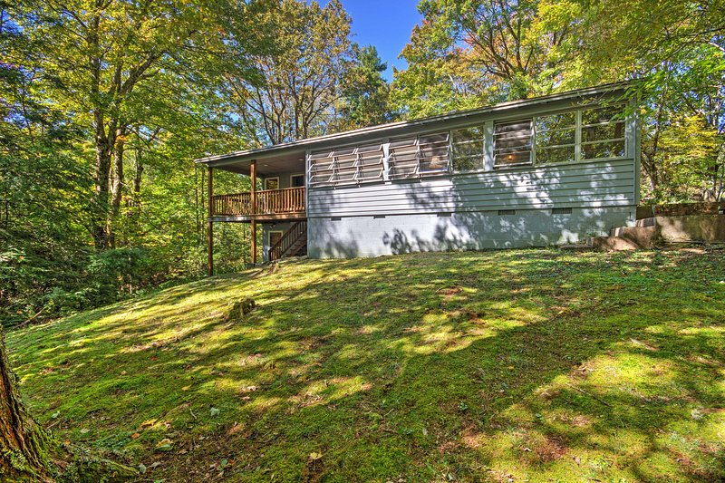 Surrounded by towering trees, this home provides you with the privacy you deserve.