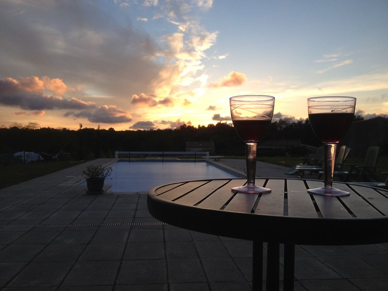 Enjoy the sunset from the veranda