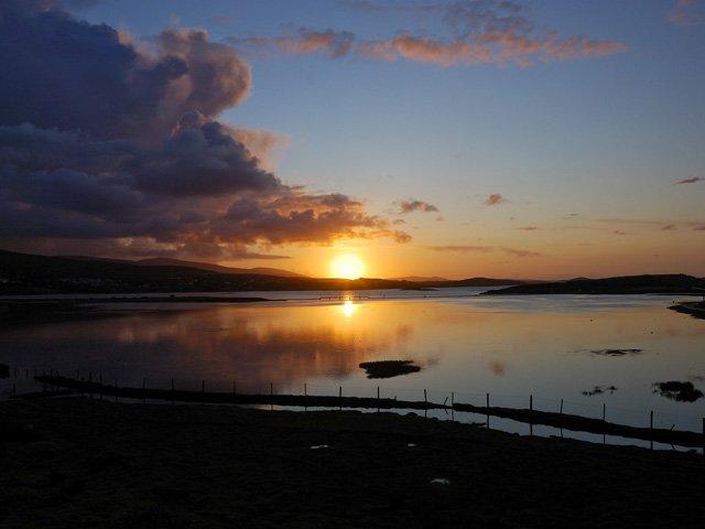 Sunset over Mulranny Bay