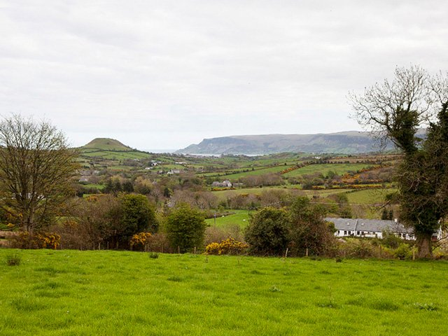 View of Lurigethan mountain and Cushendall from the property