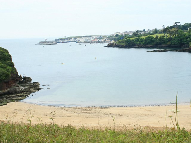 Dunmore East beach and harbour in the distance