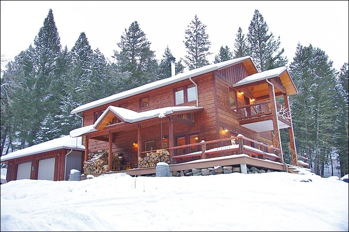 Exterior View of this Large, Secluded Home.
