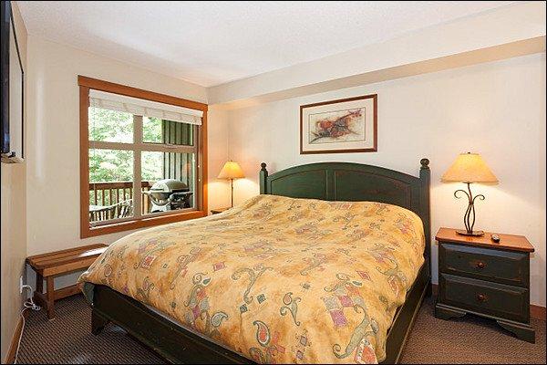 Master Bedroom has a Comfy Queen Bed