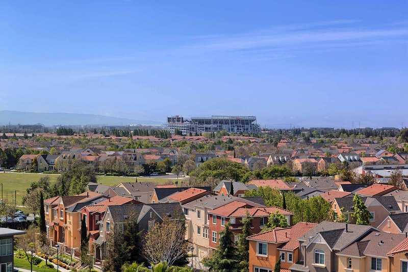View from apartment of Levi Stadium