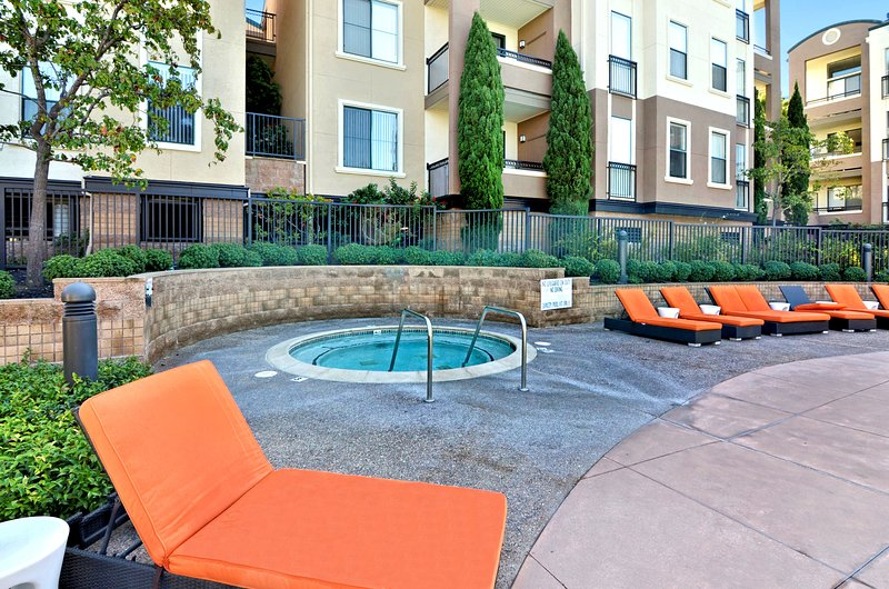 Unwind in the hot tub or relax poolside