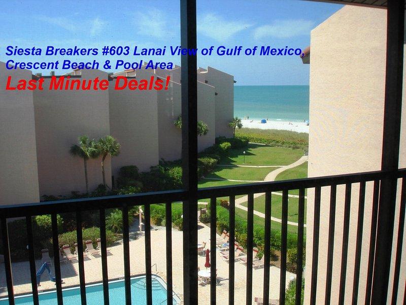 Siesta Breakers #603 in Siesta Key, FL- Sun, Sand & *Save 10% to 25% per Week*, holiday rental in Siesta Key