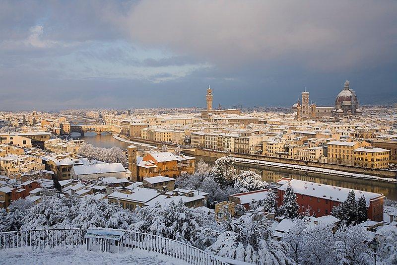 Florence snowscape