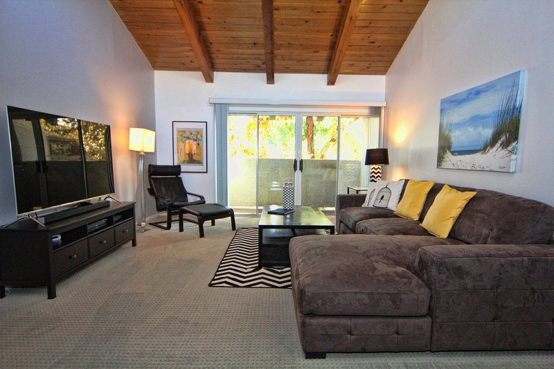 Expansive living room, vaulted ceiling, light and bright, exceptional quiet location with amazing pr