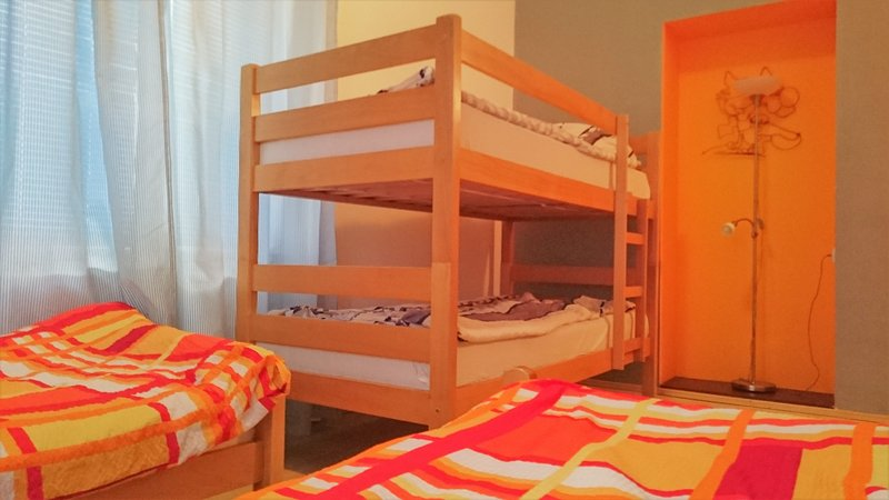 Bunk bed in private room 2 ( the photo was taken from inside the room)
