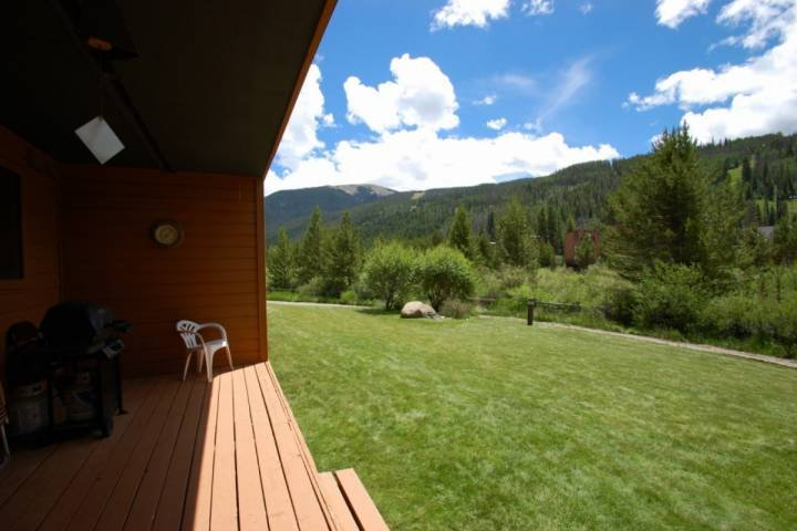 A lovely summer view on your deck.
