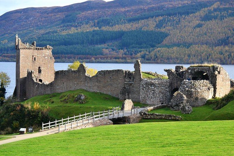 Beautiful Urquhart Castle on Loch Ness, 40 minutes drive.