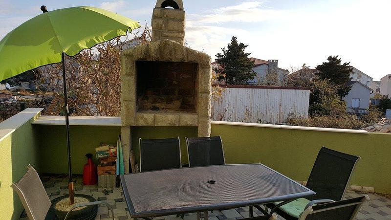 Barbecue sul terrazzo.