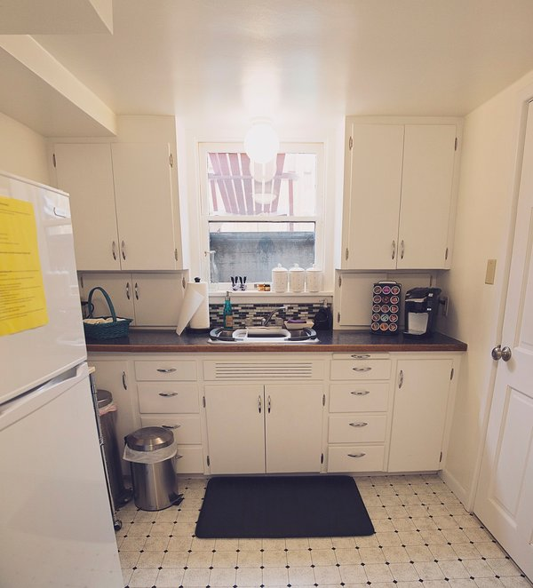 Well equipped Eat-in kitchen perfect for preparing small meals. Complimentary teas & coffee provided