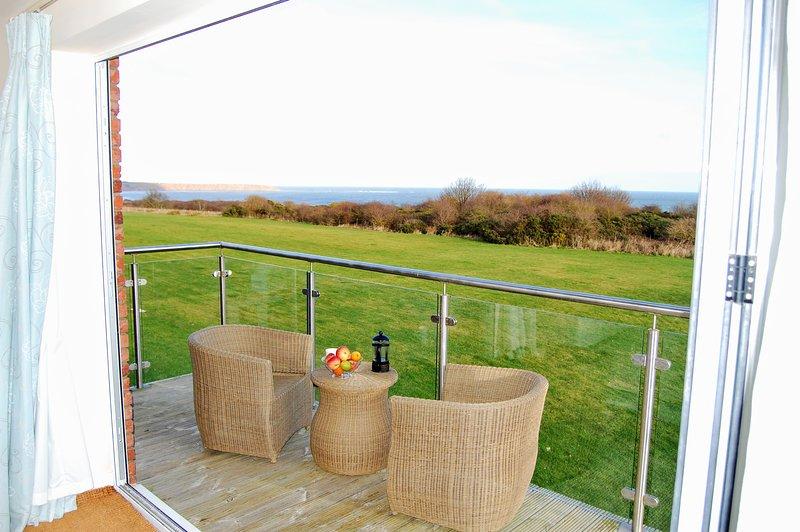 Increíbles vistas de Filey Brigg desde el balcón del dormitorio principal