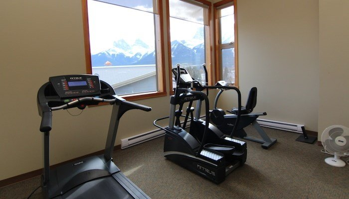 Fitness room at Canmore Crossing